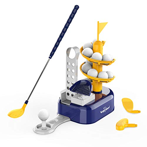Kids Golf Toys Set Outdoor Lawn Sport Toy with 15pcs Training Golf Balls & Clubs...