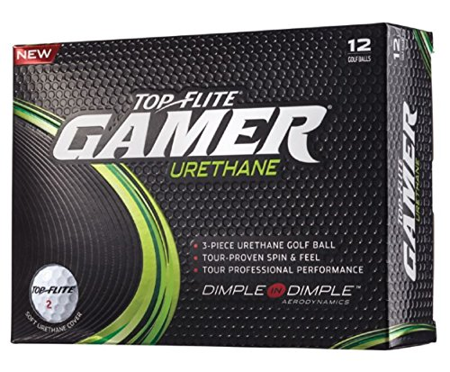 12 Pack Top Flite Gamer Urethane Golf Balls - White (One Dozen)