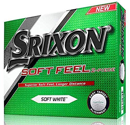 Srixon Men's Soft Feel Dozen Golf Balls, Soft White
