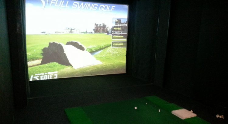 projector golf simulator